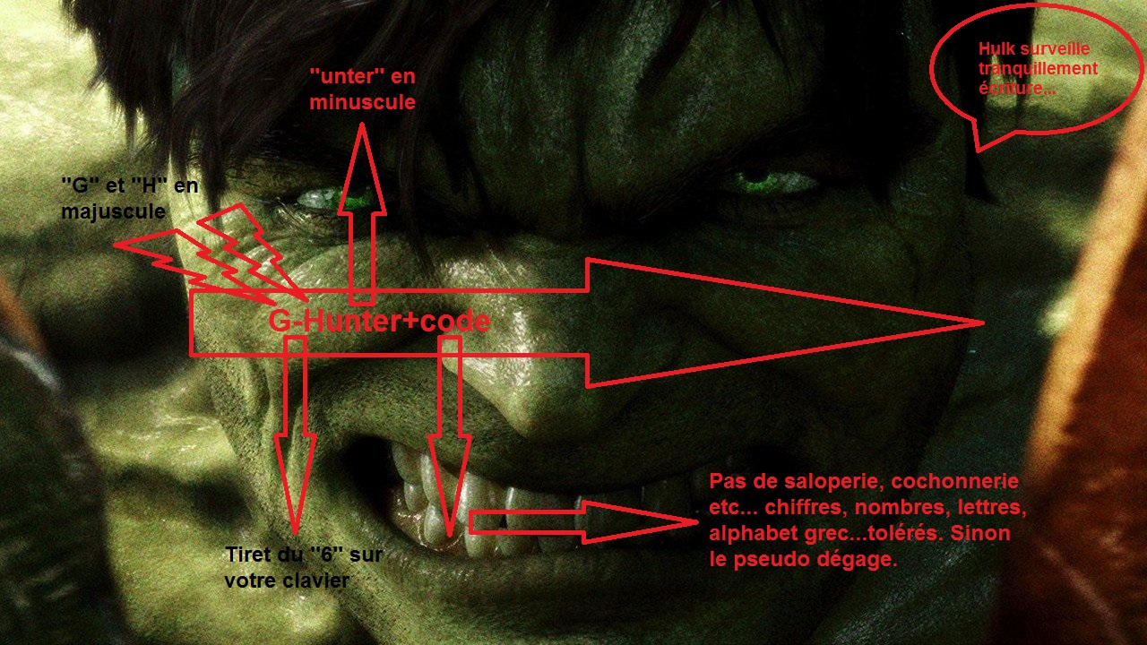 orthographe de ''G-Hunter'' by Hulk